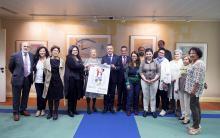 Miembros de Fedeafes con el lehendakari Iñigo Urkullu y el consejero Ángel Toña